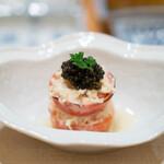 たきや - 蟹とトマトのタルタルサラダ キャビア