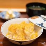 たきや - 河豚の天ぷらと唐墨ご飯