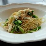 オーヴェスト - 白身魚と菜の花のラグー