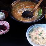 14694112 - 味噌ラーメン半チャーハン餃子セット