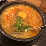 韓丼 - 海鮮スンドゥブラーメン 720円 生卵T.P 60円