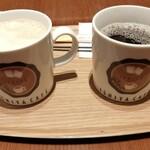 イシヤカフェ - アメリカンコーヒー(ホット/280円)・カフェラテ(ホット/320円)
