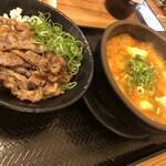 韓丼 - 牛すじスンドゥブミニカルビ丼セット 990円