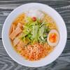 かかし - 料理写真:えびのうまみとコクのある塩スープがたまらない、えび塩ラーメン。
