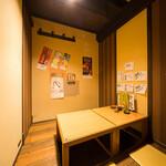 とれたて北海道 - 4名から5名の個室。掘りごたつの小上がりの為ゆったりとくつろげます。