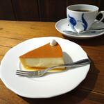 乙コーヒー - チーズケーキ&乙ブレンド1番(深煎り)