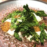 TEPATOMOKA - テリーヌ 菜の花 大山どり あんぽ柿 胡桃と豆腐のソース