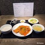 中国料理 空 - 揚げ豆腐のピリ辛煮込みランチセット