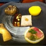 炭火焼鳥 徳川 - 前菜盛り合わせ