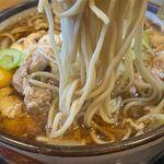 そば処 大和 - 鶏もつそばの麺