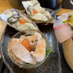 魚心亭 - 生牡蠣 あんきも