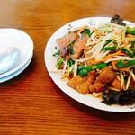 白楽天 - レバニラ炒め、取り皿