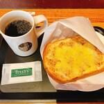 タリーズコーヒー - ツナメルトトーストセット