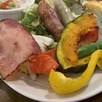 キッチンハート - 焼き野菜は白菜・南瓜・インゲン・パプリカ♪