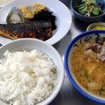 青柳食堂 - サバ塩焼定食