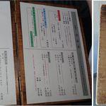 口福 - メニュー。蕎麦や口福(愛知県岡崎市)