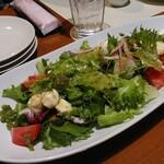 王様の食卓 - モッツァレラチーズとフレッシュトマトのサラダ