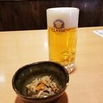 とれたて北海道 - 生ビールとお通し