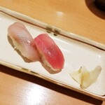 とれたて北海道 - ①お寿司2貫