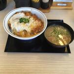 かつや - カツ丼梅 ¥490 ぶた汁小 ¥120