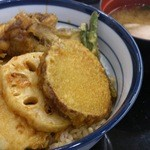 14702674 - 野菜天丼+いか 590円