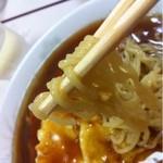 三男坊 - 色程は濃くないスープと縮れ麺(^ ^)