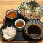 香るつけ蕎麦 蕎麦花 - 本日の肉つけ蕎麦と とろろ飯