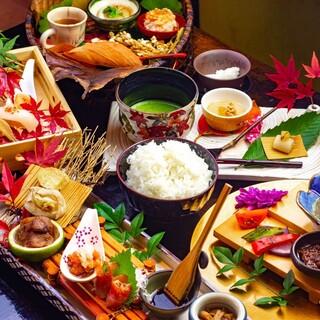 お米文化を京料理という伝統の和食技術と融合させた贅沢米コース