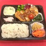 寒天茶房遊夢本店 - 日替わり弁当(1種の主菜と4種の副菜)
