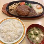キリンヤ - 『ランチハンバーグ(和風)』様(890円)※ご飯、味噌汁付。