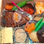 寒天茶房遊夢本店 - 仕出し弁当1段目(例)