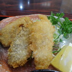 網元料理萬蔵丸 - 網元定食の魚フライ