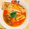 京橋真道 - 料理写真:赤湯ラーメン登場。ピリ旨辛