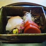 神楽坂 前田 - お造り 鯛と鮪