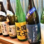 大漁旗 - 道内・道外の日本酒、それぞれ取り揃えております。