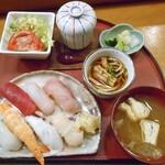 金寿し - にぎり寿司御膳(7貫)