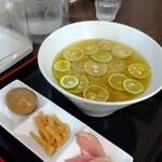 愛と情熱のらーめん屋 皐月亭 - 半熟煮たまご&メンマ&チャーシューは別皿で提供されやす‼️