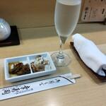 幸寿司 - お酒はグラスで