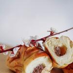 """ブリュネット - """"巧克力螺旋麵包(シヨクラトヲ・コルネ)""""、斷面(きりくち)"""