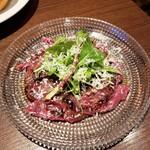 ビストロ椿 - 桜肉のカルパッチョ 1012円