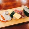 藤 - 料理写真:最初の寿司も変わったネタ多め