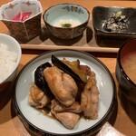 居酒屋 たぬき - [ランチ]若鶏とナスの味噌炒め
