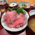 居酒屋 たぬき - [ランチ]和牛ローストビーフ定食