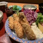 居酒屋 たぬき - [ランチ]カキフライ定食
