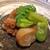 祇園楽味 - 料理写真:先付け  飯蛸の炊いたもの と そら豆 と 蕗