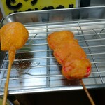 元祖串かつ だるま - 紅ショウガ、チーズ