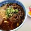 白河そば - 料理写真:あいがけ・ひもかわ・煮玉子 730+50円