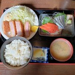 食采楽座 秀 - 料理写真:厚切りベーコンカツ定食