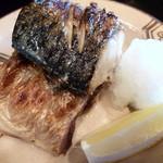 輝咲 - 鯖塩焼き、美味♪