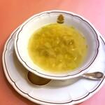 147116979 - 春キャベツと卵のローマ風スープ